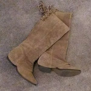Tall Suede Boots
